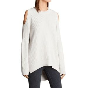 All Saints • Ribbed Cold Shoulder Sweater